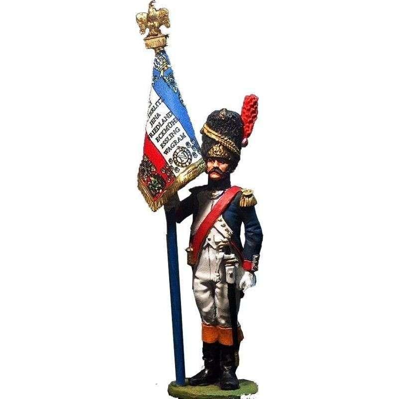 French line grenadiers standard bearer