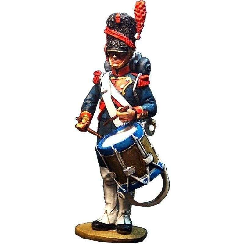 French imperial guard foot artillery of the old guard drummer