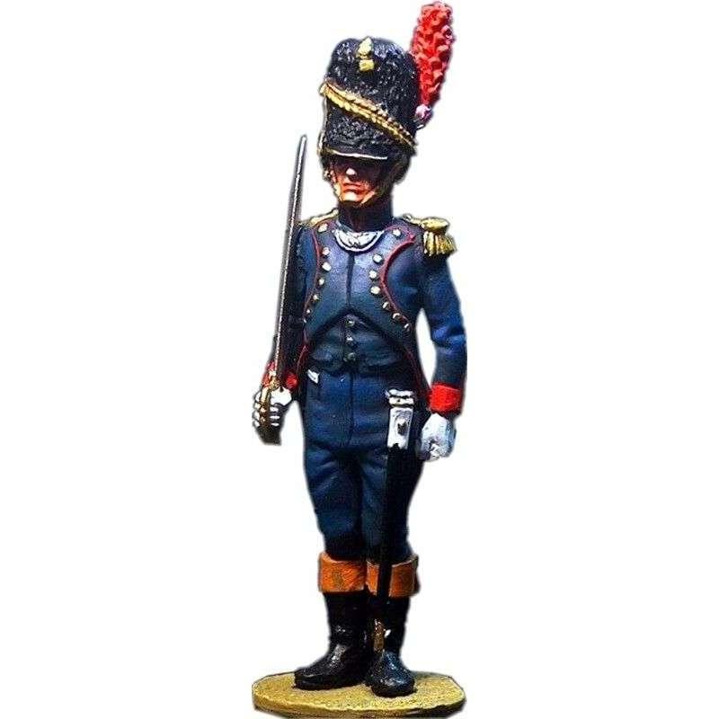 Oficial artillería a pie de la vieja guardia, guardia imperial francesa