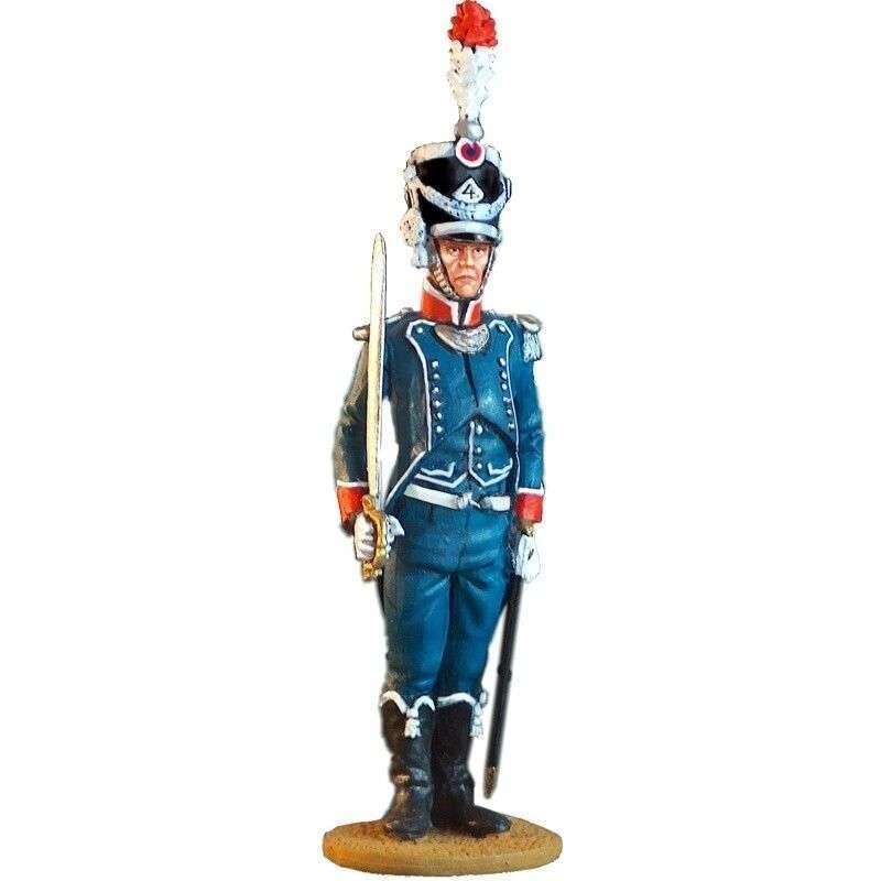 Oficial 6º regimiento infantería ligera francesa 1810