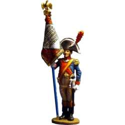 NP 052 toy soldier gendarmerie a pied standard bearer