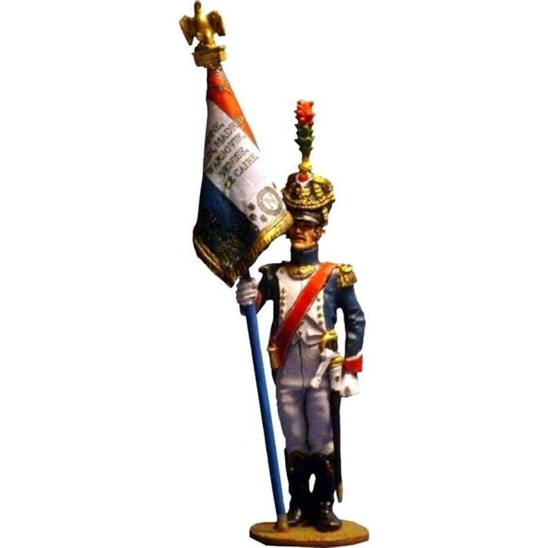French imperial guard fussiliers-chasseurs standard bearer