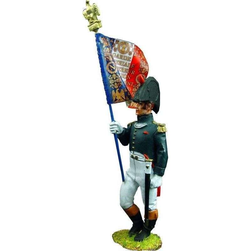 French imperial guard chasseurs standard bearer