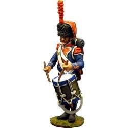 NP 199 toy soldier tambor 7º regimiento infantería ligera