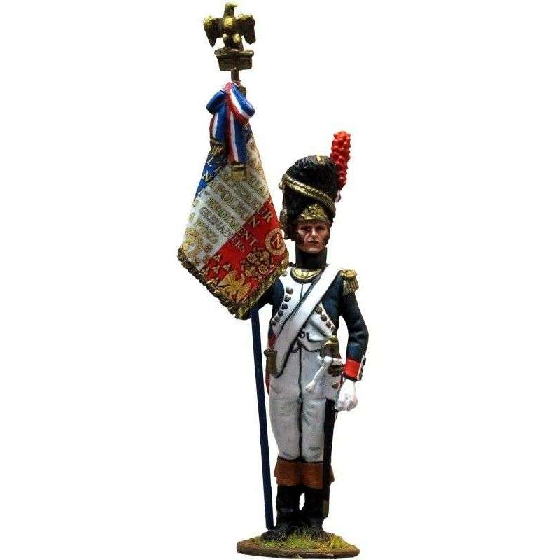 French imperial guard grenadiers standard bearer