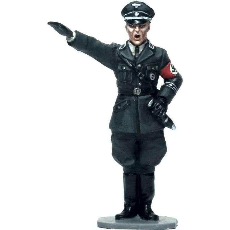 Oficial saludando SS