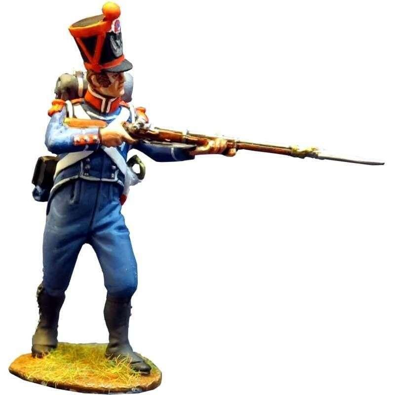 NP 297 Carabinero infantería ligera francés 1815 de pie disparando