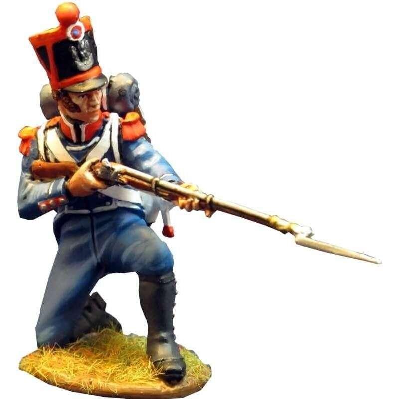 NP 298 Carabinero infantería ligera francés 1815 arrodillado disparando