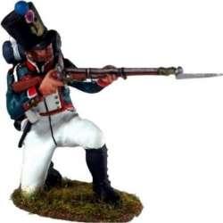 Fusilero infantería línea francesa arrodillado disparando