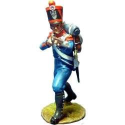 NP 344 toy soldier infantería ligera 1815 disparando avanzando