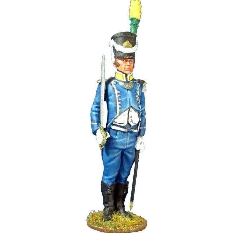 Oficial voltigeur 9º regimiento infantería ligera 1805