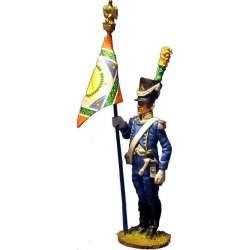 Bandera voltigeurs 9º regimiento infantería ligera 1805