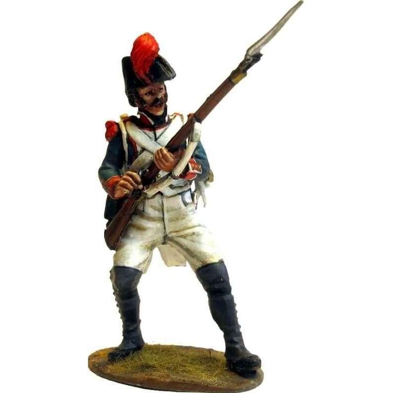 Granadero infantería línea francesa 1805 defendiendo