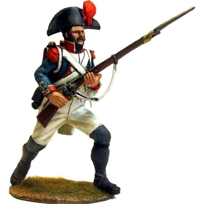 Granadero infantería línea francesa 1805 al ataque