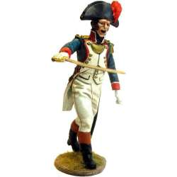 French line infantry grenadier officer charging
