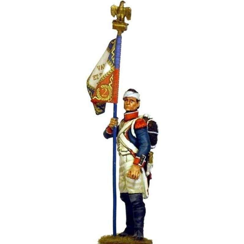 Bandera granadero infantería línea francesa 1805