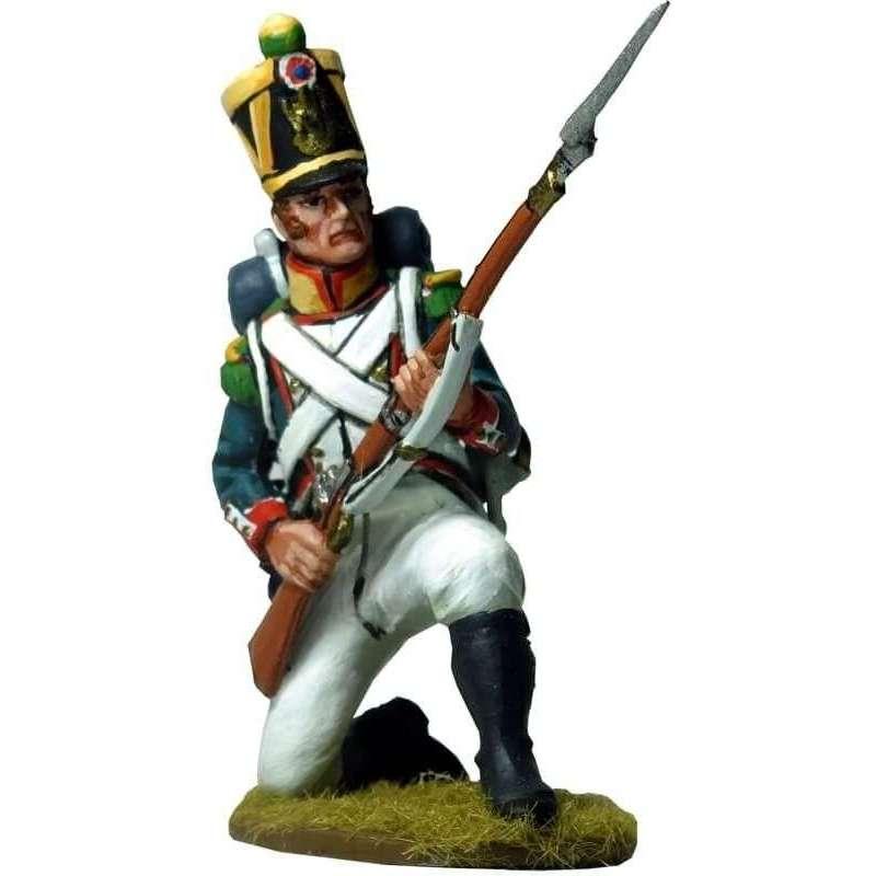 Voltigeur infantería línea francesa 1815 arrodillado 1
