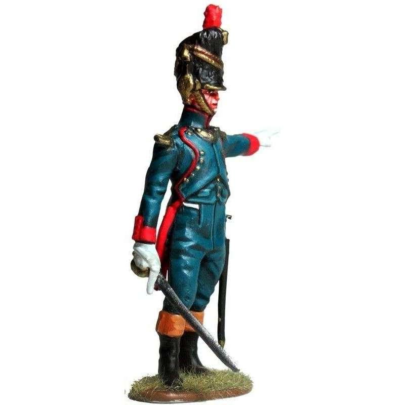 Oficial artillería a pie de la guardia imperial francesa