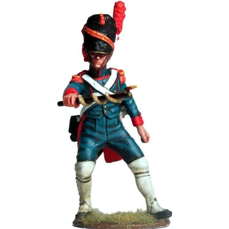 Sargento artillería a pie de la guardia imperial francesa portamecha