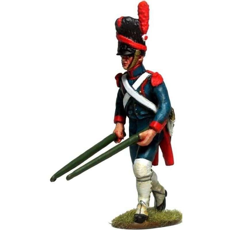 Artillería a pie de la guardia imperial francesa con palancas