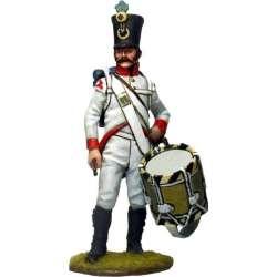 Tambor austriaco regimiento 23 infantería Wurzburg 1808