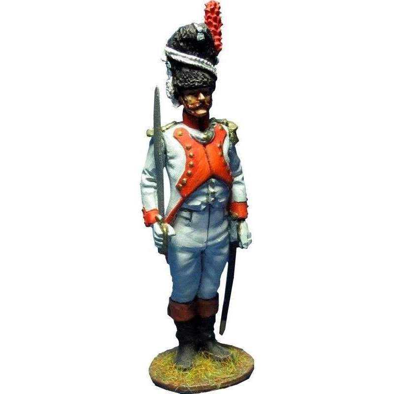 Oficial tercer regimiento granaderos guardia imperial francesa