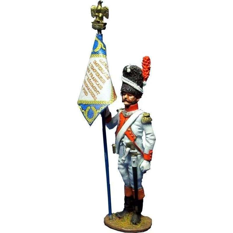 French imperial guard 3rd grenadiers regiment standard bearer