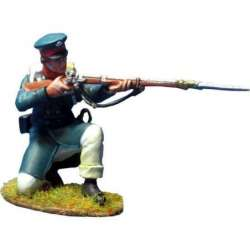 NP 357 toy soldier east prussian landwehr arrodillado