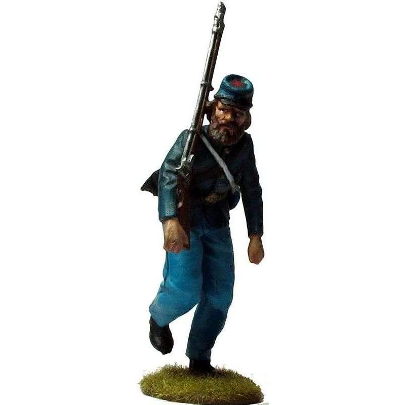 ACW 042 Soldado 20º regimiento Maine infantería cargando